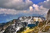 Small lake in swiss mount — Stock Photo