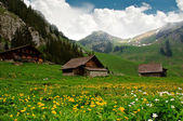 Alpine Huts - Switzerland — Stock Photo