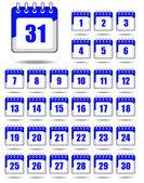 Set of calendar icons — Stock Vector