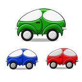 Set of bright colorful cars — Stock Vector