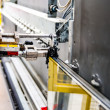 Machinery, Glass window factory — Stock Photo