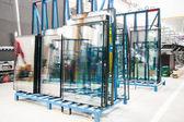 Glass window factory — Stock Photo
