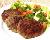 Turkey cutlets — Stock Photo