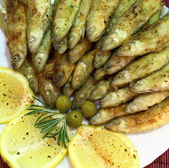 Fried smelt — Foto de Stock