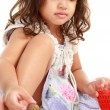 Little girl with her clay — Stock Photo