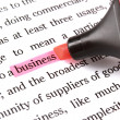 Highlighter and word business — Stock Photo #10754860