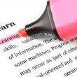 Highlighter and word Learning — Stock Photo