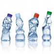 Empty used plastic bottles — Stock Photo