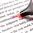 Highlighter and word idea — Stock Photo #10755030