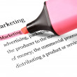 Marketing,highlighted in red — Stock Photo