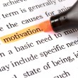 Highlighter and word motivation — Foto Stock