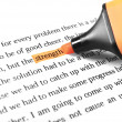 Highlighter and word strength — Stock Photo #10755088