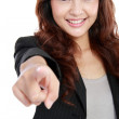 Business woman pointing her finger — Stock Photo #10755518