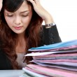 Business woman stressed at work. — Stock Photo #10755533