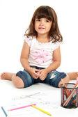 маленькая милая девочка smilimg — Стоковое фото