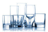 Picture of assorted empty glassware set — Stock Photo