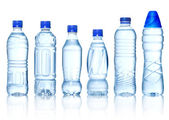 Collection of water bottles — Stock Photo