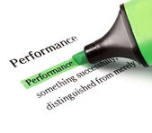 Highlighter and word performance — Stock Photo