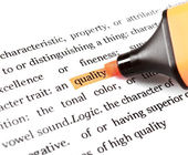Highlight and word quality — Stock Photo