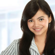 Closeup of young business woman — Stock Photo