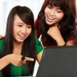 Women learning with a laptop — Stock Photo #10957512