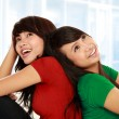 Two young asian female thinking — Stock Photo #10957647