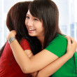 Two women hugging — Foto de Stock
