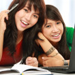 Female student smiling — Stock Photo #10957792