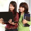 Women learning with a laptop — Stock Photo #10958011