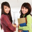 Stock Photo: Two young student