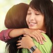 Two women hugging — Stock Photo #10958026