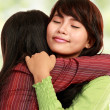 Two women hugging — Stock Photo #10958042