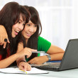 Women learning with a laptop — Stock Photo