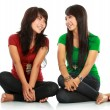 Stock Photo: Two girls looking each other