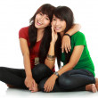 Two teenage girls best friend — Stock Photo #10958211
