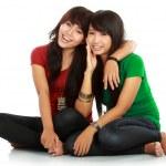 Two teenage girls best friend — Stock Photo