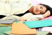 Stress business woman — Stock Photo