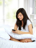 Woman texting message — Stock Photo