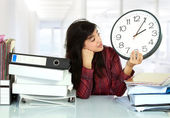 Woman stress in the office — Stock Photo