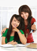 Two young student — Stock Photo