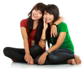 Two teenage girls best friend — Stock Photo