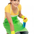 Woman cleaning the floor — Stock Photo #11056746