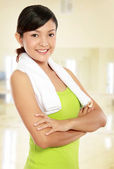 Healthy young woman — Stock Photo