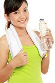 Fitness kadın içme suyu — Stok fotoğraf