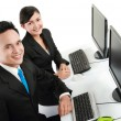 Office worker working — Stock Photo