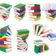 Stock Photo: Stack of colorful books isolated on white