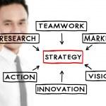 Businessman draw Strategy concept — Stock Photo