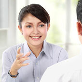 Business talking on business meeting — Stock Photo