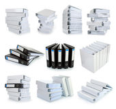 Collection stack of file Office binder — Stock Photo