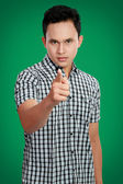 Man pointing finger at you — Stock Photo